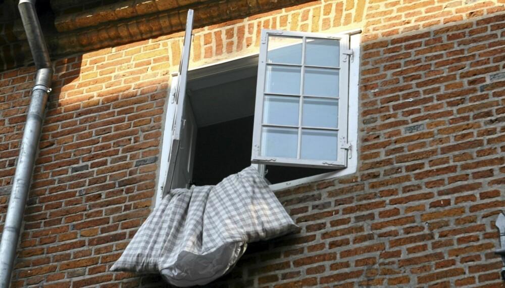 MEN IKKE NÅR DU SOVER: Bor du i et nyere hus, er det mest sannsynlig ingen grunn til å sove for åpent vindu. God utlufvting av rommet, og sengetøyet, er likevel smart for å få bukt med midd, fukt og mugg.