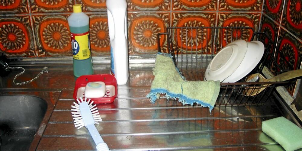 RENT OG PENT: Slik skal det se ut på oppvaskbenken.