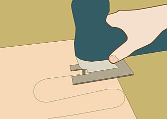 Sag: Mønsteret kan lastes ned og overføres til plata.