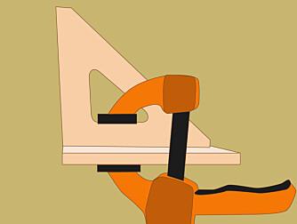 Lim: Bruk lim og listeskruer når du setter sammen skohengeren.