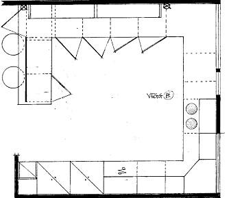 PLANEN: Slik er plantegningen over kjøkkenet med ny innredning.
