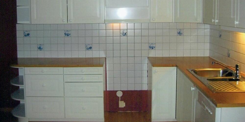 KJEDELIG: Kjøkkenet var ikke særlig spenstig før oppussingen.