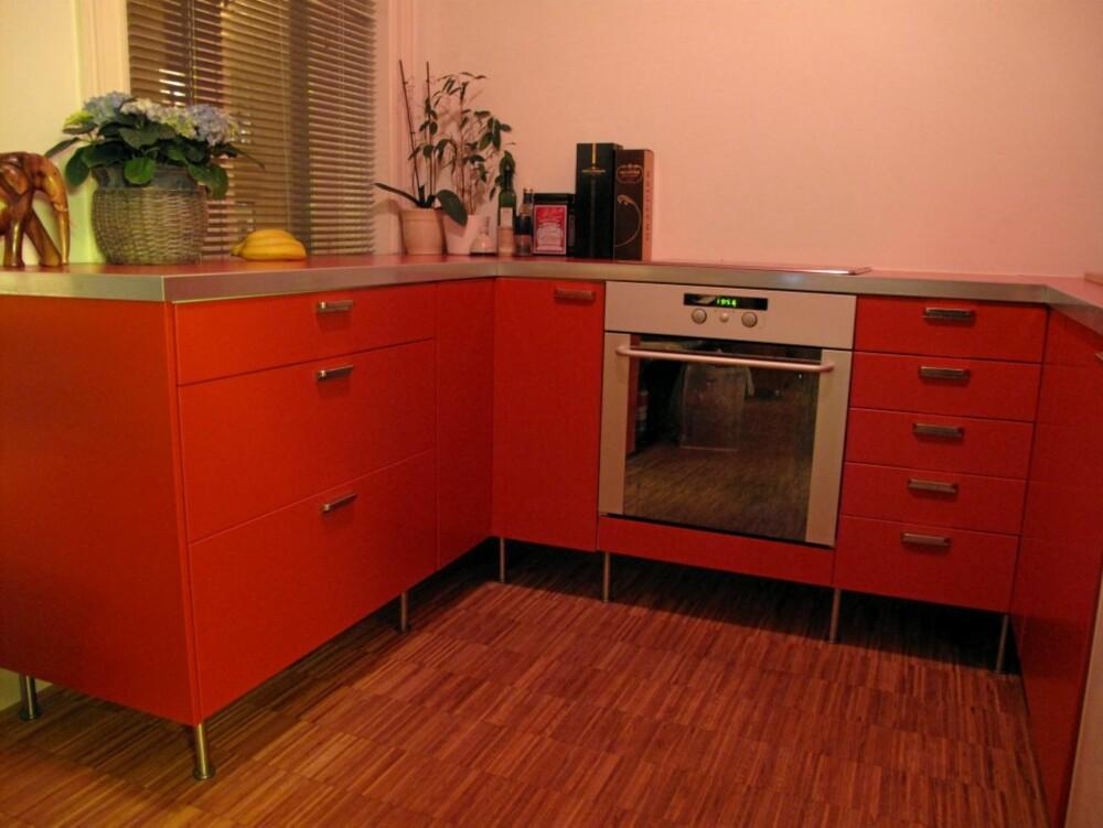 ORANGE: Her har eieren valgt en sprek oransje farge, moderne og personlig.
