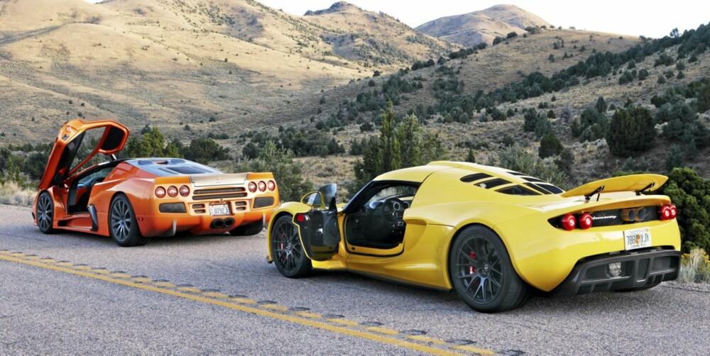 SUPERBILER: Hennessey Venom GT og SSC Ultimate Aero