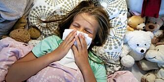 INFLUENSA: Ved mistanke om svineinfluensa, bør barnet holdes hjemme i syv dager.