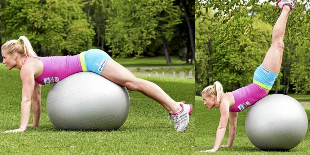 ØVELSE 7: Håndstående på ball, posisjon 1 og 2.