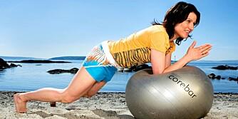 Tverrgående magemuskel: Planken med albuene på ball ¿ en killerøvelse!