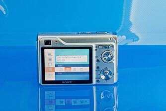 Sony Cyber-shot W200 har 3x optisk zoom og en 2,5 tommer stor LCD-skjerm.