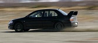 Nå snakker vi getaway car - Evo IX!