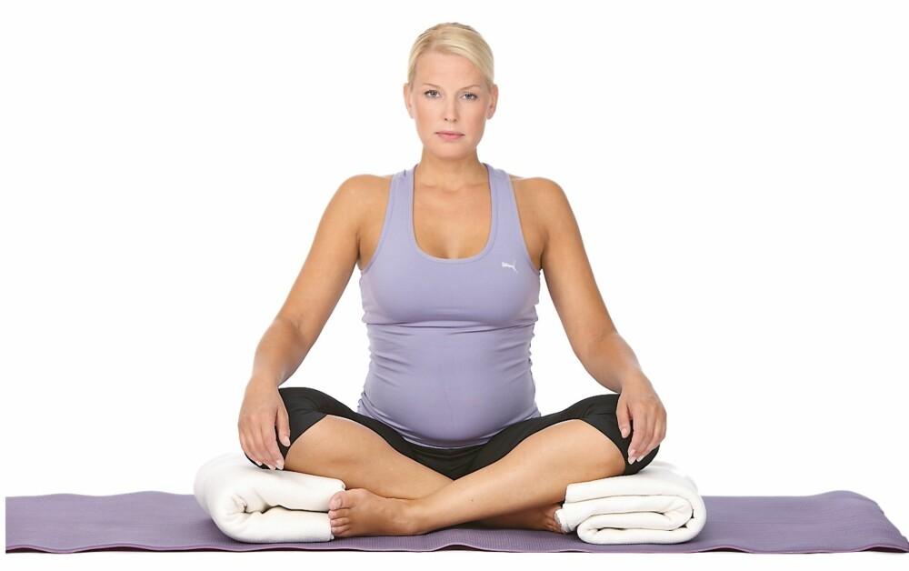 Puste- og meditasjonsstilling. Foto: Petter Berg / HM Foto
