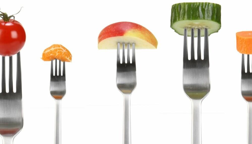 FRUK OG GRØNT: Det er den naturlige kombinasjonen av fytokjemikalier, vitaminer, antioksidanter, mineraler og fiber i frukt, bær og grønnsaker som har alle de positive helseeffektene.