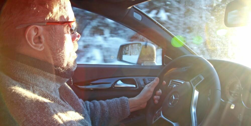 """DRIVERS CAR: Shooting Brake """"""""krymper på deg"""""""". Du merker ikke mye til vekten på nesten to tonn når du sitter bak rattet."""