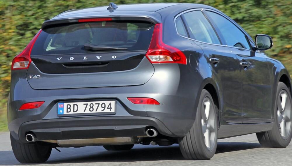LEKKER: Utseende og design handler selvfølgelig mye om smak. Men selv seks måneder etter at Volvo V40 ble lansert, har vi til gode å høre noen som ikke liker hvordan den ser ut. FOTO: Petter Handeland