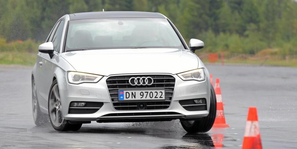 HVASS: Rask respons, godt grep og nydelig balanse. Det er nye Audi A3 i kortform.