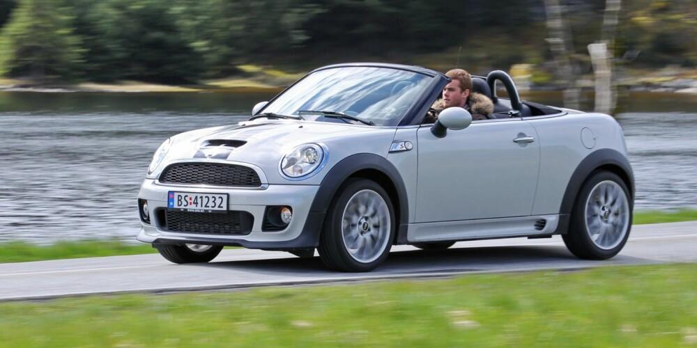 ET FYRVERKERI: Hvis du lurer på om du skal kjøpe deg en Mini og har et snev av bilinteresse eller bare synes det er moro å kjøre bil: Unn deg Cooper S-versjonen. Foto: Terje Bjørnsen