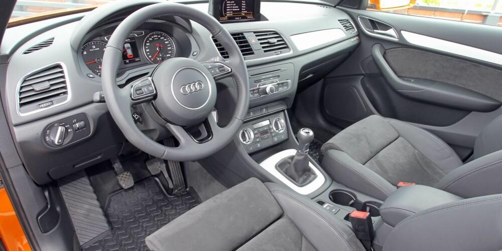 I TOPPKLASSE: Det mangler litt i forhold til de mer luksuriøse Audi-modellene, men Q3 er likevel i toppklasse når vi sammenligner med andre kompakt-SUV-er med startpris rundt 400 000 kroner.