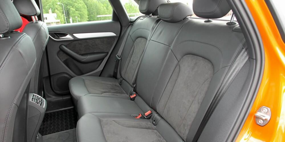 A3-NIVÅ: Hvis du kjøper SUV fordi du er ute etter plass, vil du sannsynligvis bli skuffet. Det gjelder også for Q3. Plassen er omtrent på linje med en A3 Sportback.