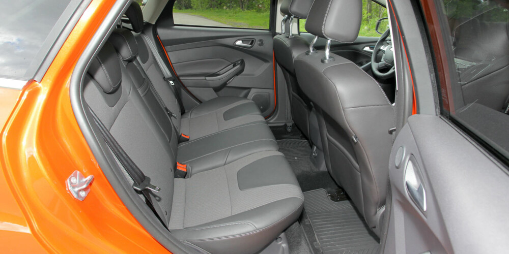 TA PLASS: Plassmessig er Ford Focus blant de rommeligste kompaktbilene. FOTO: Terje Bjørnsen