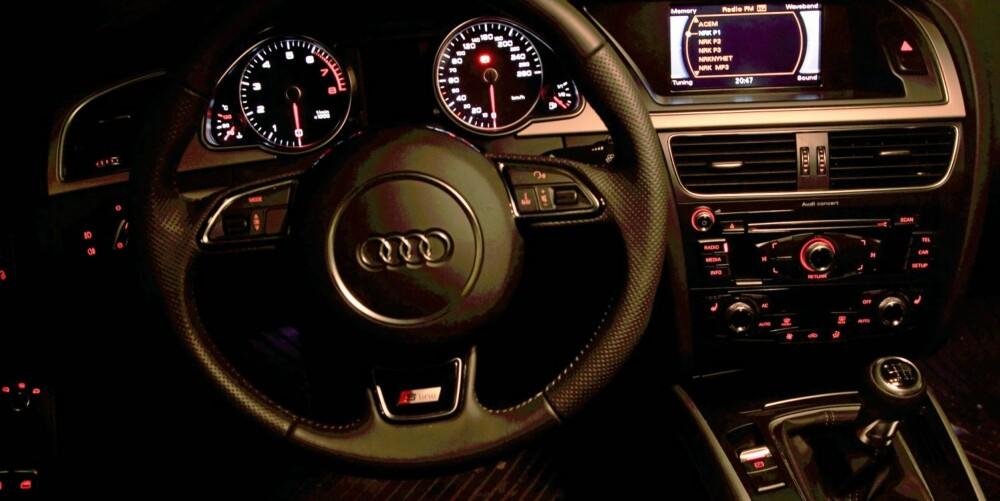 HØY STANDARD: Interiørkvaliteten holder høy Audi-klasse. Foto: Egil Nordlien, HM Foto