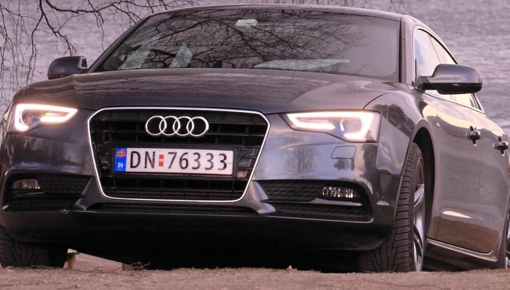 UNIK: Det er det beste ordet for å beskrive Audi A5 Sportback. Foto: Egil Nordlien, HM Foto