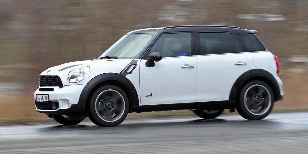 SIKRE LINJER: Du er aldri i tvil om at du ser på en Mini, men ikke alle er like begeistret for utseendet. Spesielt er det i alle fall.