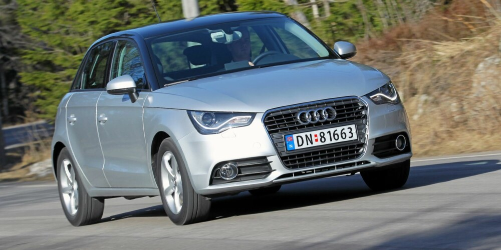 KJAPPING: Med sterk bensinmotor og lav vekt er Audi A1 Sportback 1,4 TFSI like rask som langt dyrere biler. FOTO: Terje Bjørnsen
