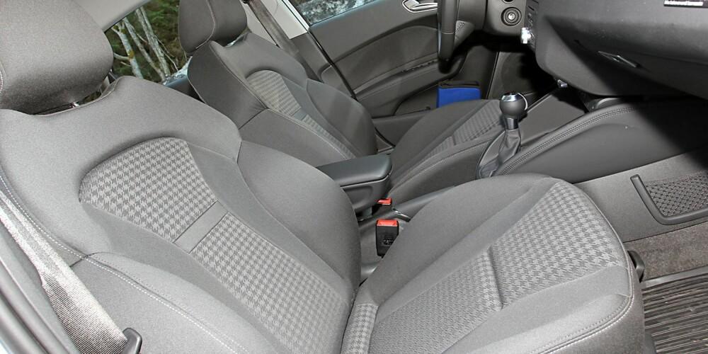 VELG SPORTSSETER: Utstyr må til for å få det beste ut av Audi A1 Sportback. Ambitionpakken kan by på fine sportsseter. FOTO: Terje Bjørnsen
