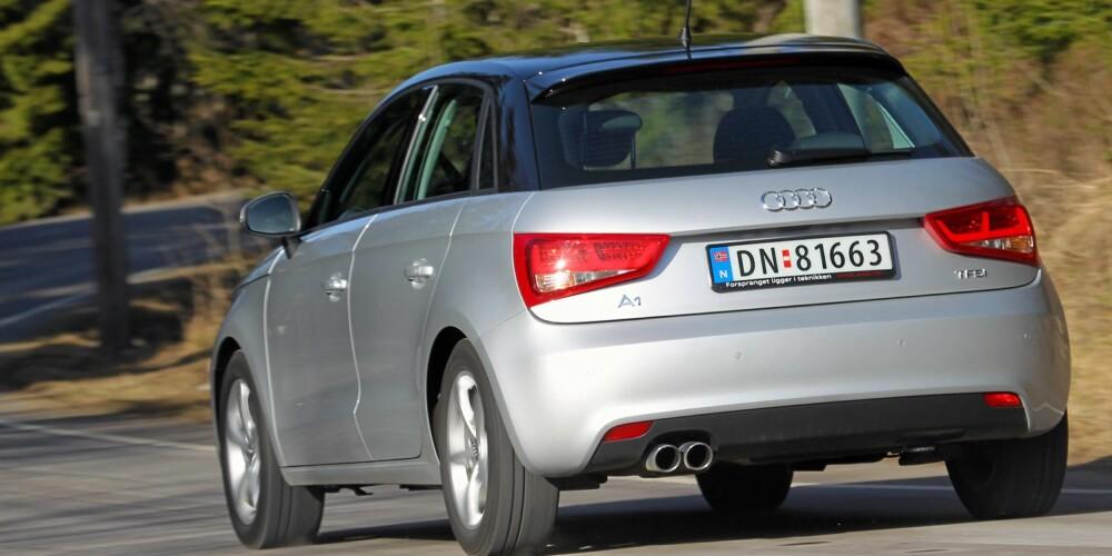 SPORTSLIG: Frisk motor og spenstige veiegenskaper er blant de beste egenskapene til Audi A1 Sportback 1,4 TFSI. FOTO: Terje Bjørnsen