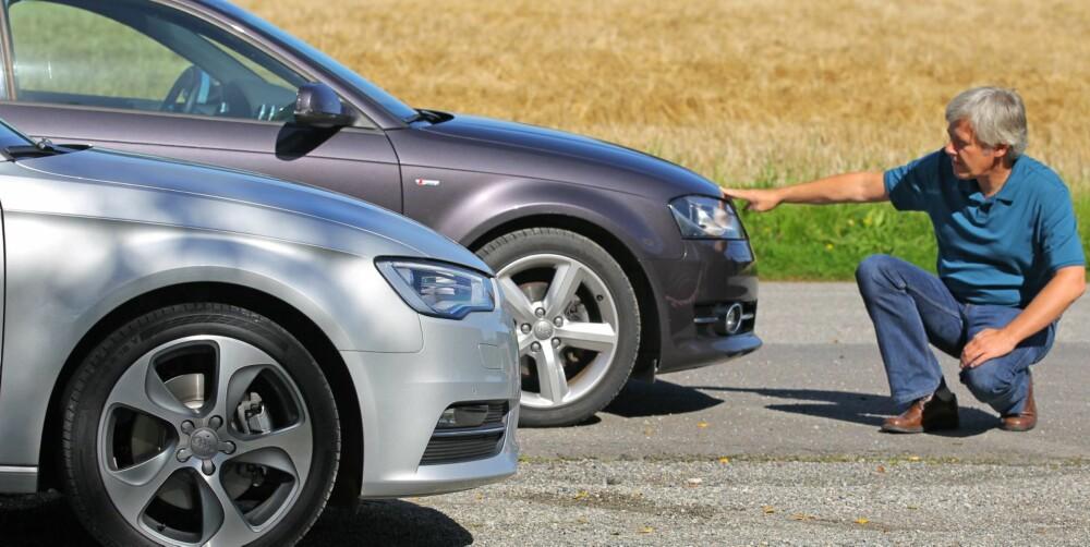 GODE VALG: - Dersom lommeboka ikke helt har plass til en ny Audi A3, kan vi underskrive på at det ikke er noen nedtur å nøye seg med den gamle heller, mener artikkelforfatter Terje Bjørnsen, fagredaktør i Vi Menn Bil Top Gear. FOTO: Petter Handeland