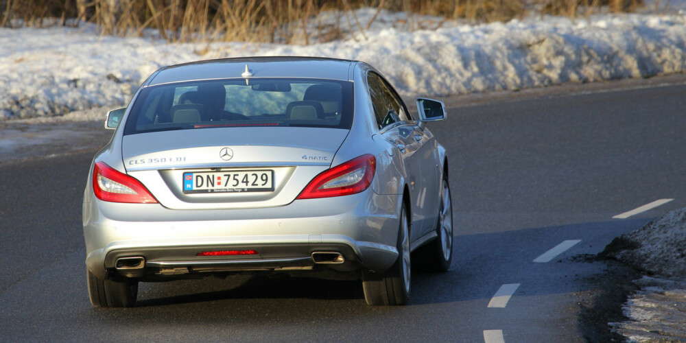 ALLVÆRS: Med 4Matic blir CLS en luksusbil som takler det aller meste av norske kjøreforhold.