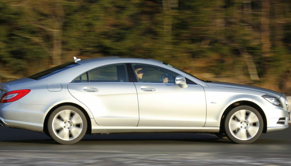 SMEKKER: Mercedes-Benz CLS 350 CDI 4Matic har elegante linjer og egenskaper som matcher utseendet.