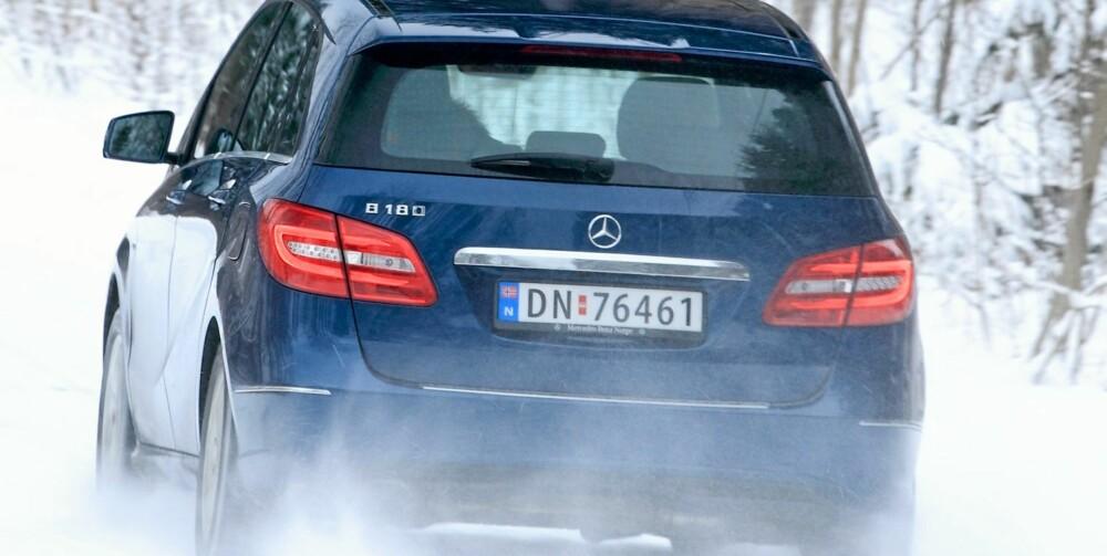 TOPPSCORE: Mercedes B-klasse har fått toppkarakter i klassen for små flerbruksbiler i EuroNCAP-kollisjonstest.