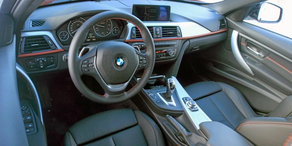 KOMPAKT: Bak rattet i nye BMW 3-serie får du et tett og intim cockpitfølelse.