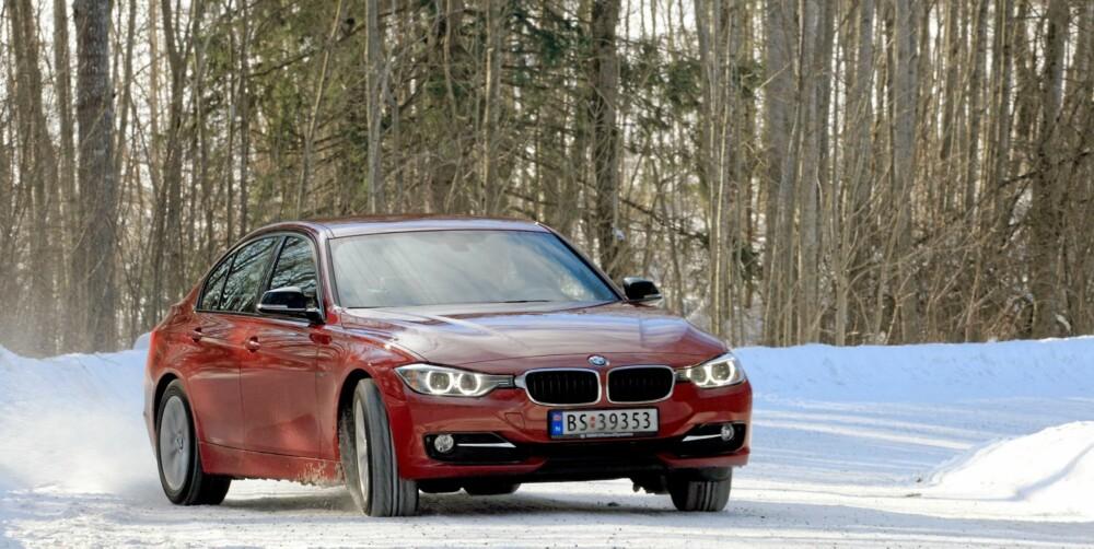PRESISJON: BMW 3-serie er på sitt beste når den blir kjørt aktivt. Da får du fullt utbytte av de millimeterpresise veiegenskapene.