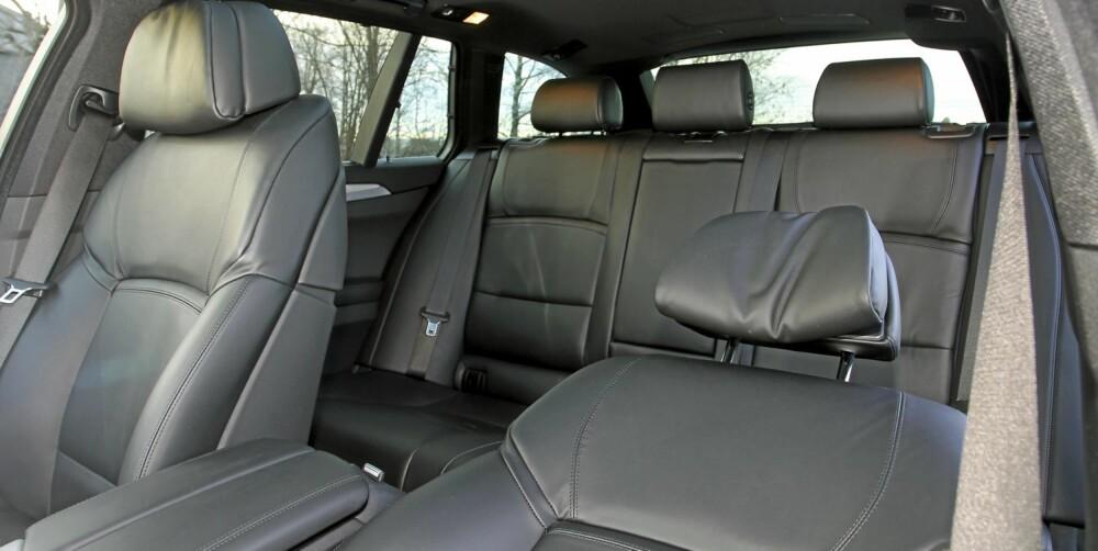 Luksus: Testbilens komfortseter koster glatte 18 600 kroner som et tillegg i M-sportspakke til 42 500 kroner.
