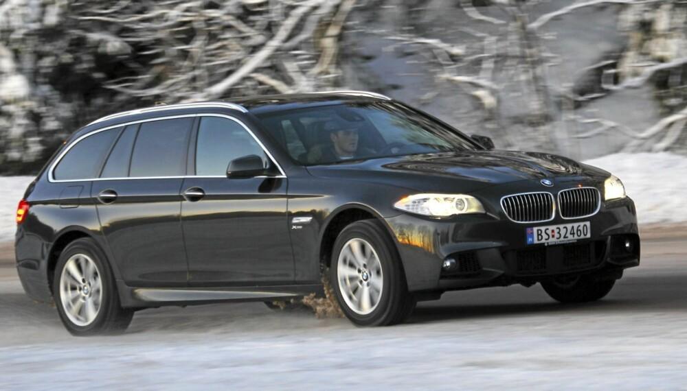 X-faktor: Med xDrive firehjulsdrift blir BMW 5-serie en komplett bil for alle føreforhold.