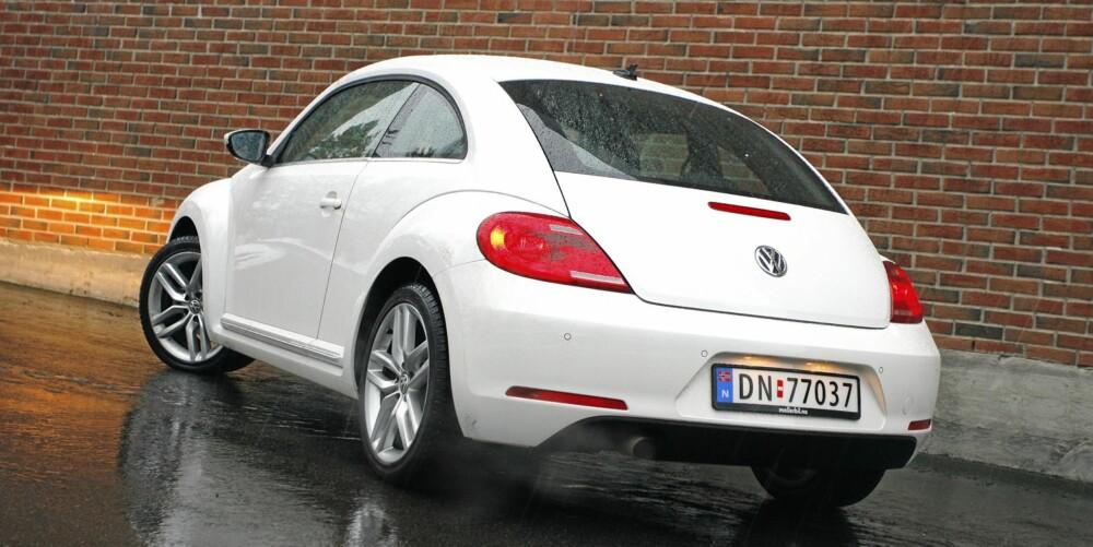 TØFFERE: Beetle Coupé er mye tøffere enn tidligere og har faktisk visse likheter med nye Porsche 911.