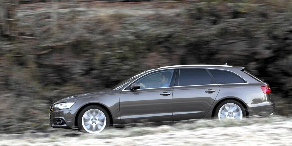 ELEGANSE: Med nesten fem meters lengde kan Audi koste på seg myke linjer og likevel by på masse innvendig plass.