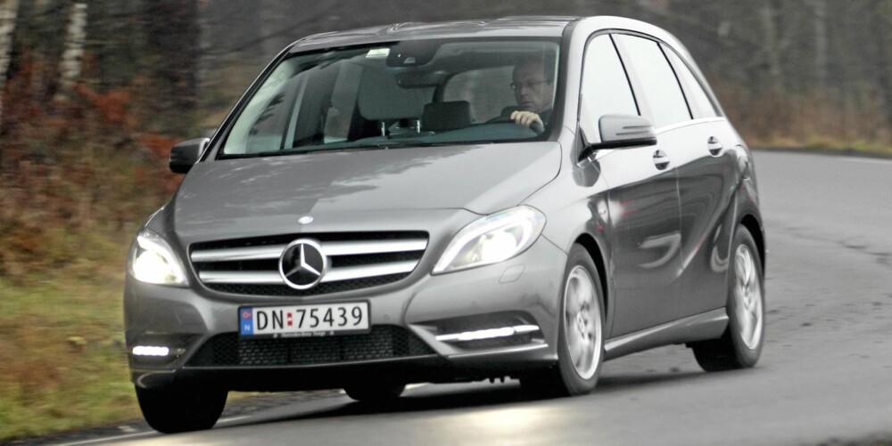 SKAL TAKLE VEKST: Mercedes selger inn B-klasse som en bil som skal takle at en familie vokser. Dumt, da, at få norske småbarnsfamilier har godt over 300.000 kroner å bruke på ny bil.