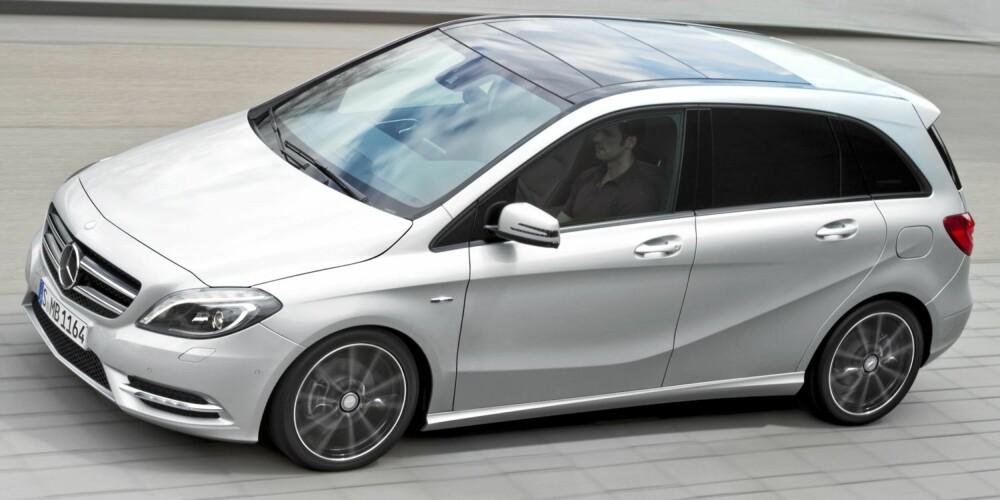 KVALITET: B-klasse har åpenbare kvaliteter: Sikkerheten er på topp, den har god plass i forhold til ytre mål, er relativt rimelig til å hete Mercedes (men ikke ellers) og er god å kjøre.