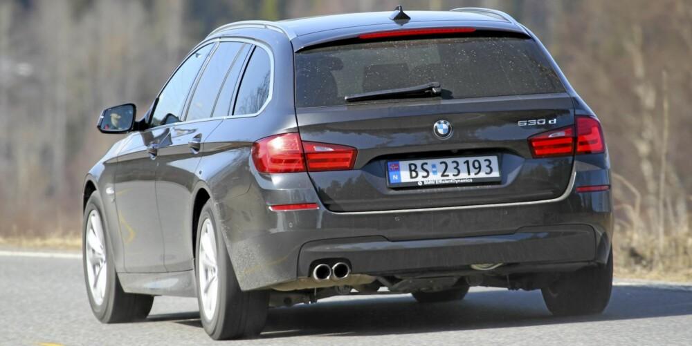 KLISTER-KOMFORT: Få andre biler enn BMW 530dA Touring xDrive klarer kombinasjonen av topp komfort og ditto veiegenskaper.