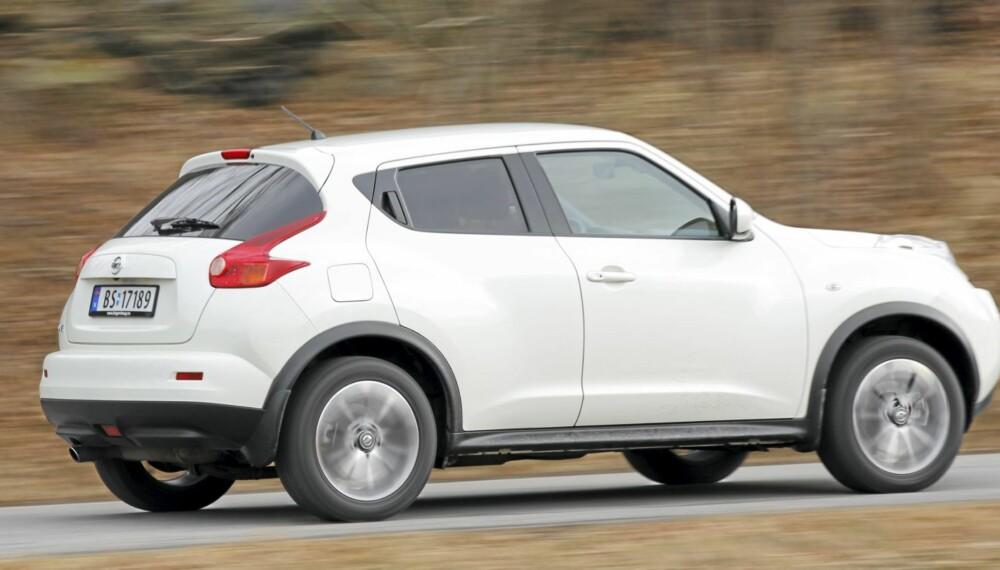 SPESIELL: Nissan Juke er utvilsomt spesiell, men vi har til gode å møte noen som syntes den er pen.