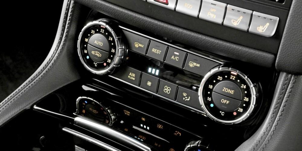 DETALJORIENTERTE: Alt av knapper og brytere er godt plassert, og de har også en eksklusiv følelse som vanskelig kan beskrives.
