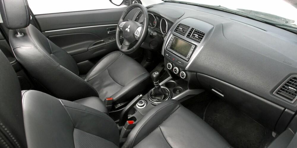 Mitsubishi ASX med Instyle+ utstyrspakke har det aller meste du ønsker deg, som navigasjon og skinninteriør.