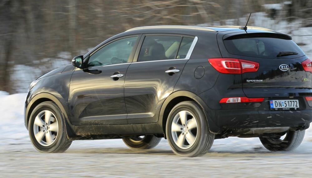 Kia Sportage 1,7 CRDI er en av de tøffeste folke-SUV'ene på markedet. Selv med forhjulsdrift.