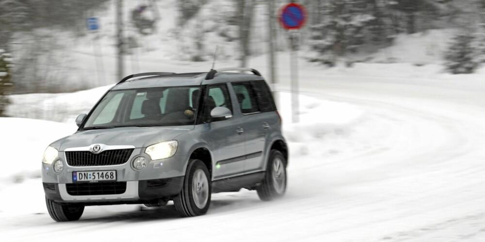 GODT TAK: Yeti takler snøføre på en mesterligmåte og er til tider ganske så underholdende å kjøre.
