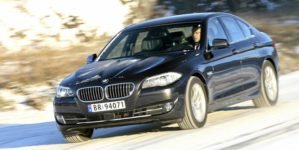 KARAKTERISTISK: BMW er dyktige til å holde på en egen stil. Du er aldri i tvil om at en 5-serie er en BMW.