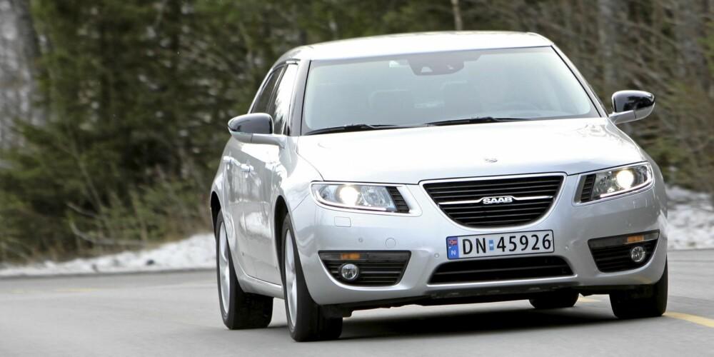 KJØRER BILLIG: Hvem hadde vel trodd at Saab 9-5 skulle være en av de gjerrigste premium-familiebilene? 0,57 l/mil er et veldig godt resultat.