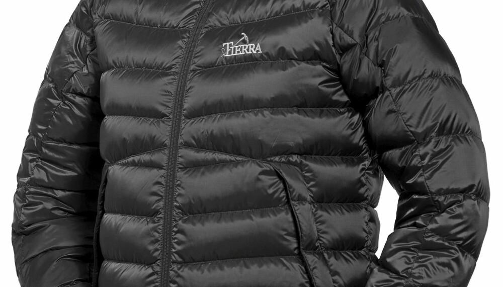 UTEN HETTE: Tierra Ace Down Jacket er det beste valget i denne prisklassen om du ikke ønsker/trenger hette på jakken.