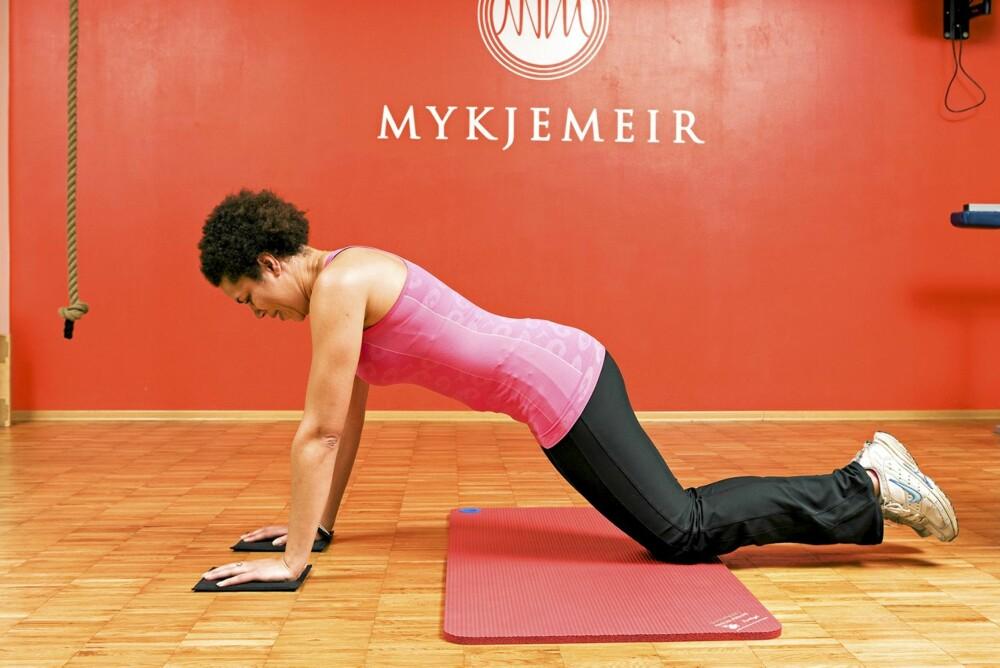 SKIDRAG MED MATTER 1: Her er det avgjørende at du klarer å holde hofta fram under hele bevegelsen.